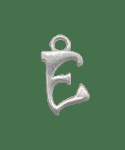 "Sterling Silver Alphabet Charm ""E"""