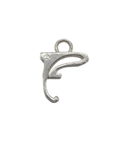 "Sterling Silver Alphabet Charm ""F"""