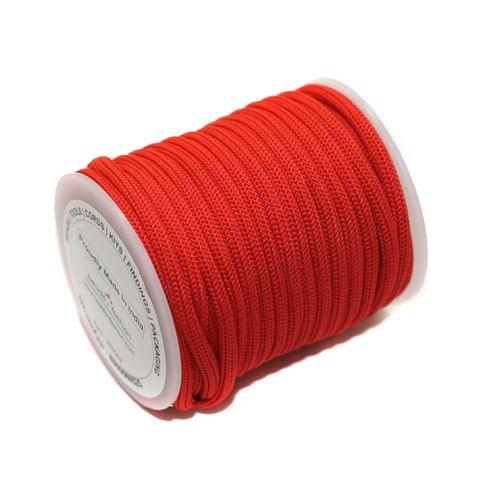 10 Mtrs Bracelet Paracord Rope Red 3mm