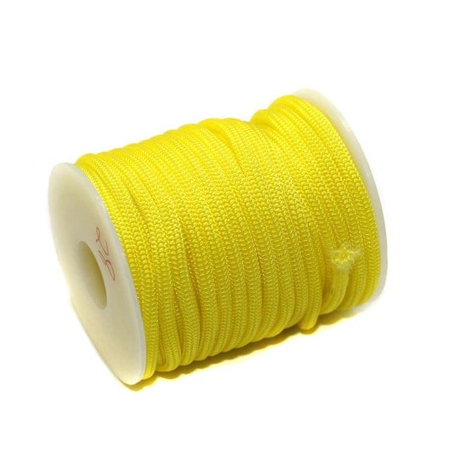 10 Mtrs Bracelet Paracord Rope Yellow 3mm