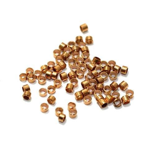 720+ Copper Crimp Beads 2mm