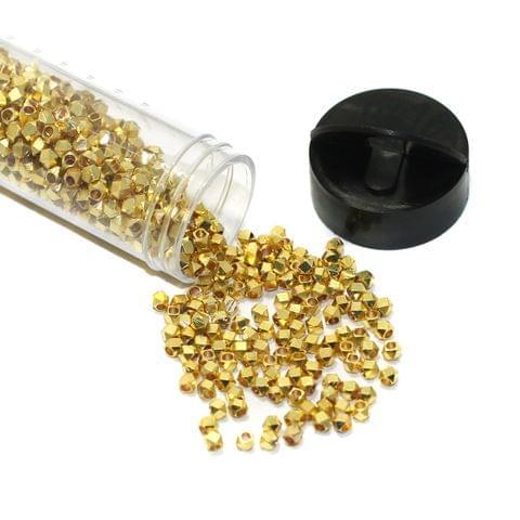 1370 Pcs Crystal Brass Beads 2mm