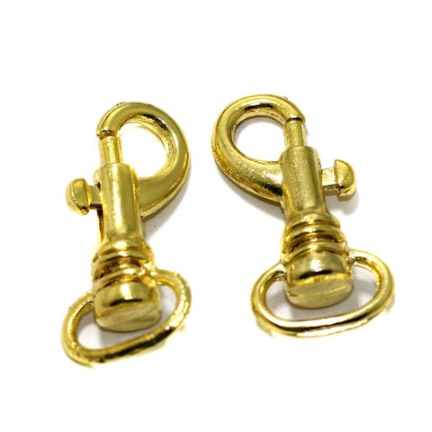 10 Pcs Lobster Clasp Gold 1.50 Inches