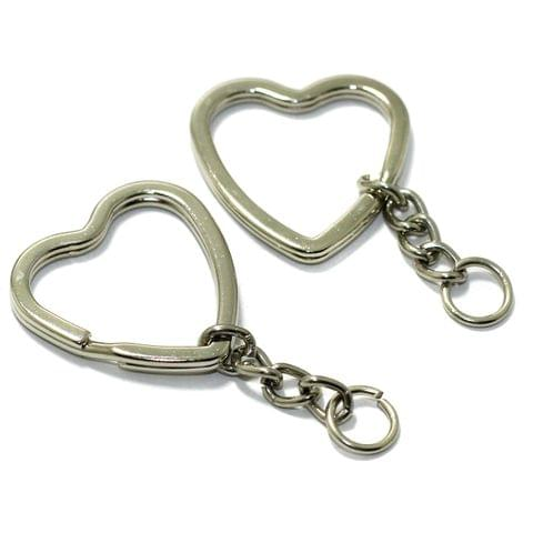 Heart Shaped Double Split Key chain 1.25 Inch