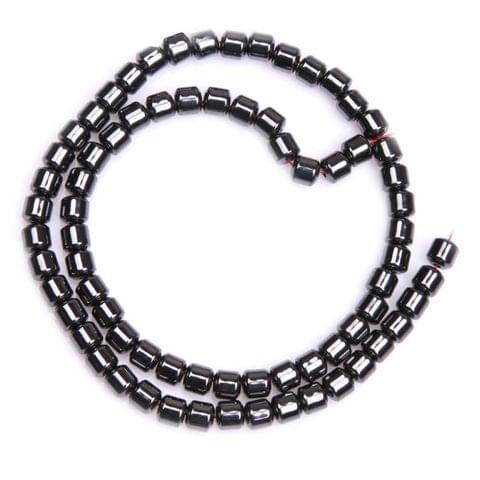 1 Strand, 4x6mm Magnetic Hematite Tube Beads
