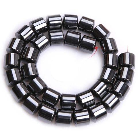 1 Strand, 8mm Magnetic Hematite Tube Beads