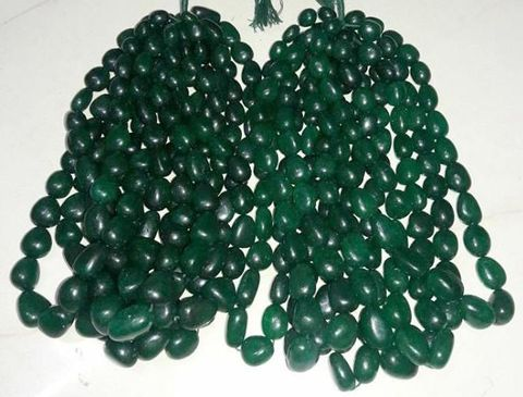 Semiprecious Green Quartz Tumble 18mm