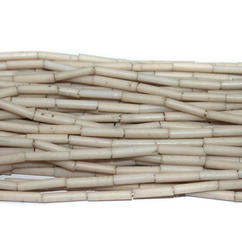 Tube Beads White Colour. 10 string 200rs .