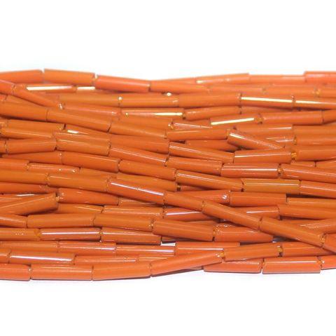 Tube Beads Orange Colour. 10 string 200rs .