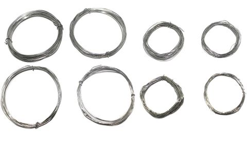 jewellery making wire silver colour, pack of 8 pcs, Size: 16, 18, 20, 22, 24, 26, 28 & 30 gauge thick, 5 mtrs each