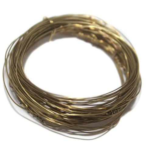 Jewellery Making Golden Plated Brass Craft Wire, 20 Mtrs, 28 Gauge Thick (0.36 mm)