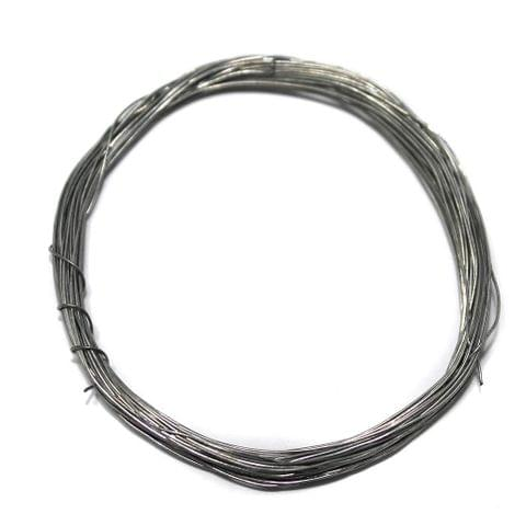Jewellery Making Silver Plated Brass Craft Wire, 20 Mtrs, 30 Gauge Thick (0.30 mm)