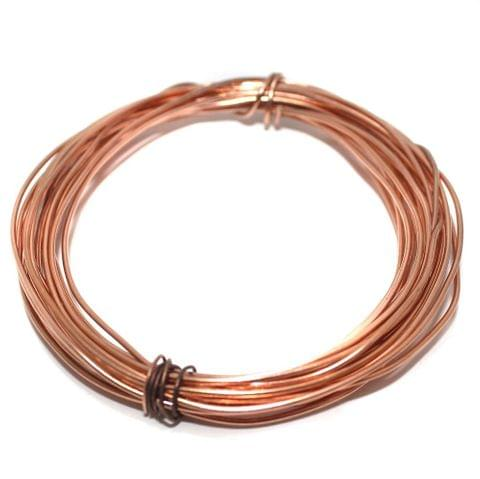 Jewellery Making Copper Plated Brass Craft Wire, 10 Mtrs, 22 Gauge Thick (0.70 mm)