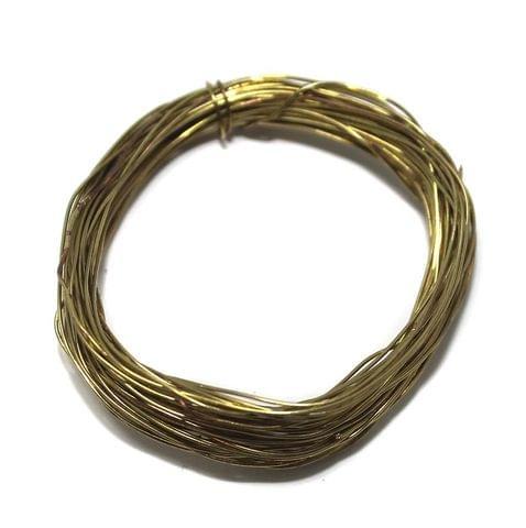 75 Mtrs Golden Plated Brass Craft Wire, 30 Gauge (0.30 mm)