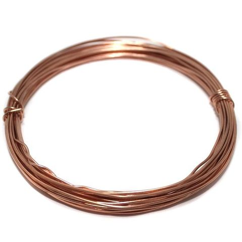 18 Gauge (1.20 mm) Jewellery Making Copper Plated Brass Craft Wire (10 Mtr)