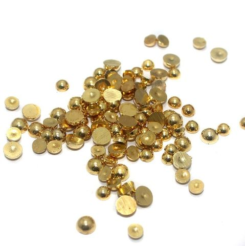 50 Gm Silk Thread Jewellery Making & Decorating Golden Acrylic Chatons Round 4 mm