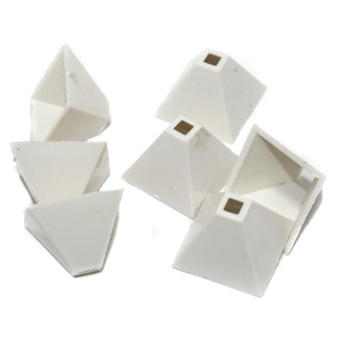 Silk Thread Jewellery Making Square Shape Jhumka base, Size 25x18 , Pack Of 50 Pcs