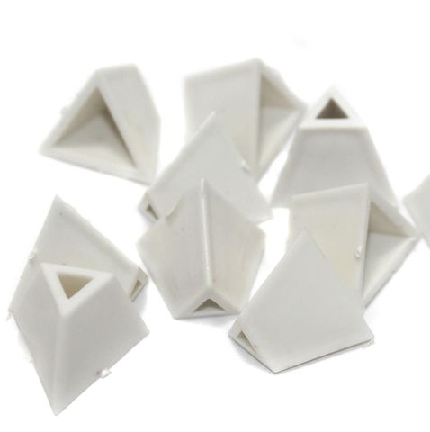 Silk Thread Jewellery Making Triangle Shape Jhumka base, Size 22x17 , Pack Of 50 Pcs
