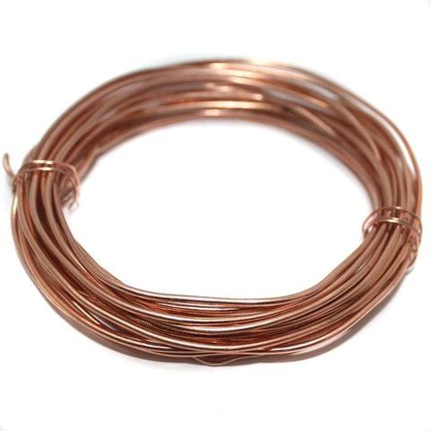 16 Gauge (1.60 mm) Jewellery Making Copper Plated Brass Craft Wire (5 Mtr)
