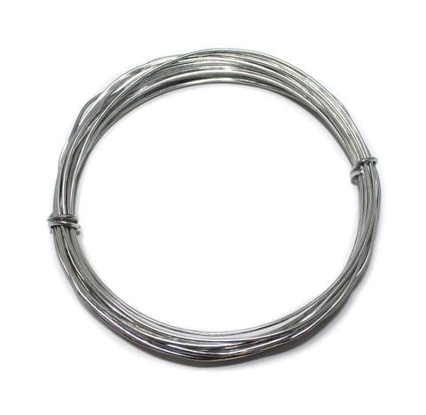 18 Gauge [1.20 mm] Silver Plated Brass Crafts Wire [10 Mtr]
