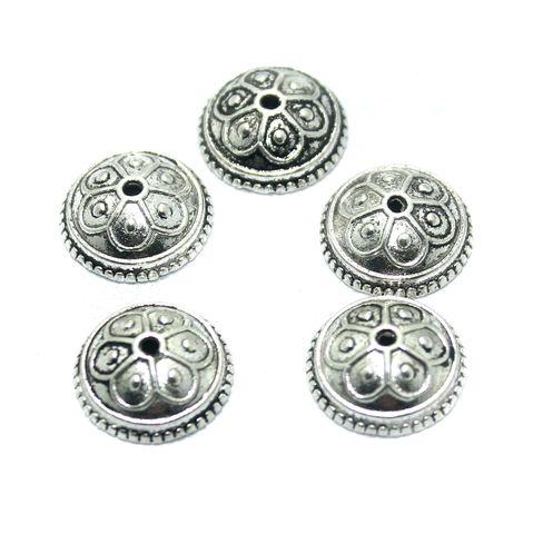 25 Pcs. German Silver Bead Cap, Size-14x5mm