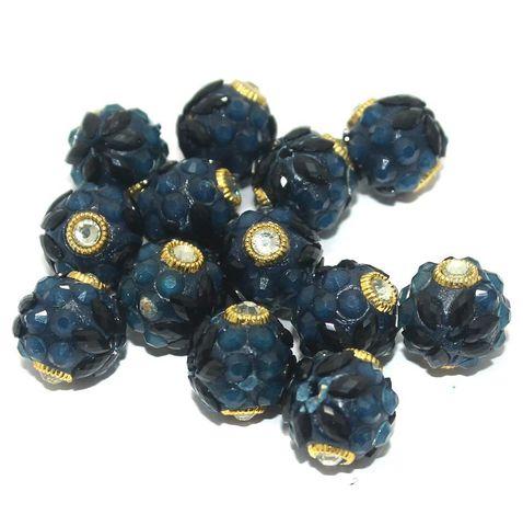 Takkar Work Round Beads 15mm Teal