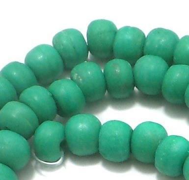 82 Pcs Bone Round Beads Turquoise 6