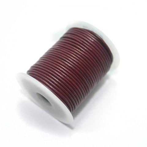 Jewellery Making Leather Cord 2 Cherry-25 Mtr