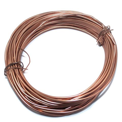 Aluminium Craft Wire Copper 10 Mtrs, Size 2 mm
