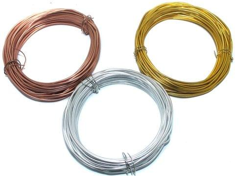 Aluminium Craft Wire 3 Pcs Combo 2mm 10Mtr Each