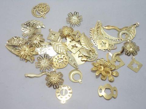 50 Gm Metal Stamps Golden Assorted