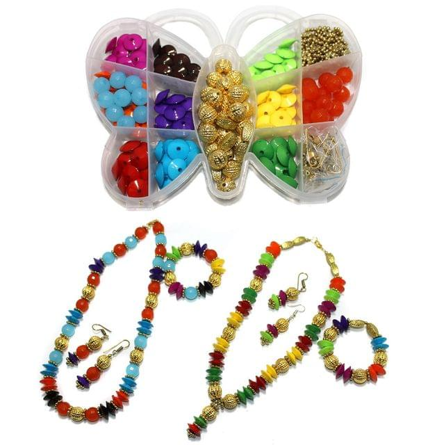Jewellery Making Acrylic Beads And CCB Beads With Findings DIY Kit