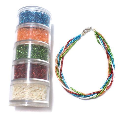 Jewellery Making 2 Cut Seed Beads DIY Kit