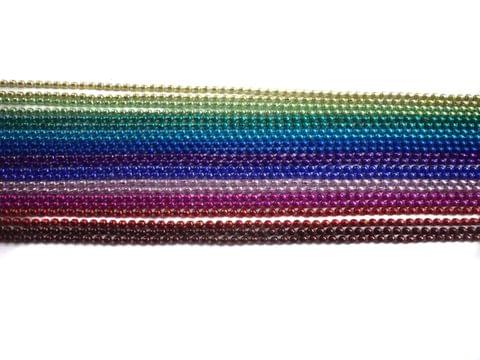 Metal Ball Chains Assorted 8 Colors [1 Mtr Each]