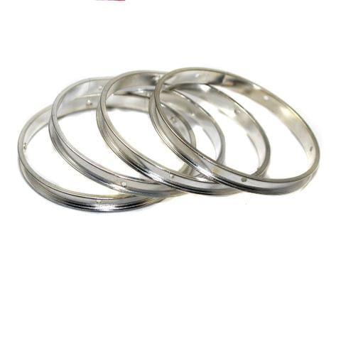 4 Bangle Base Silver 2`2 Inch