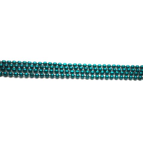 4 Metal Ball Chain Teal 2 [1 Mtr Each]