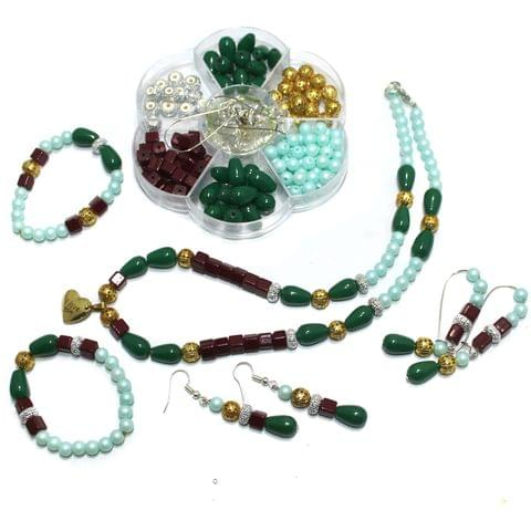 Jewellery Making Acrylic And Glass Beads With Finding Kid Kits