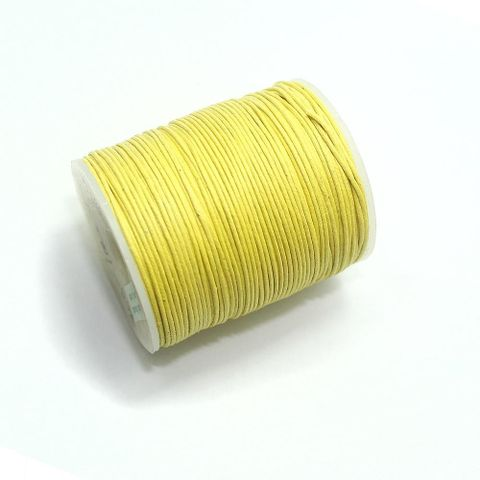 100 Mtrs. Jewellery Making Cotton Cord 1 Yellow 1mm