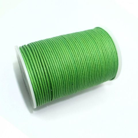 100 Mtrs. Jewellery Making Cotton Cord Parrot Green 2mm