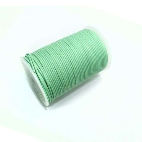 100 Mtrs. Jewellery Making Cotton Cord Mint Green 2mm