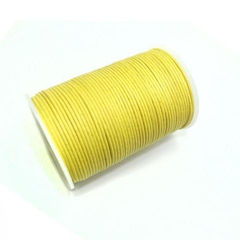 100 Mtrs. Jewellery Making Cotton Cord Yellow 2mm