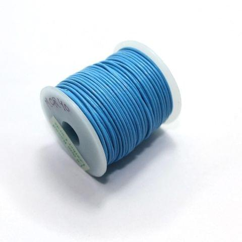Jewellery Making Leather Cord 1 Turquoise-25 Mtr