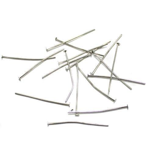 500 Pcs. Metal Head Pins Nickle Silver 1.5 Inch