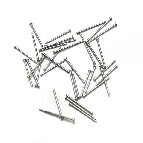 615 Pcs. German Silver Head Pins Silver 0.50 Inch
