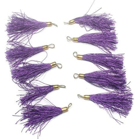 100 Pcs. Tassel Danglers Purple 2 Inch