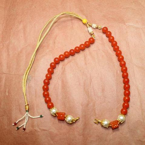 Necklace Dori Orange, Pack Of 10 Pcs