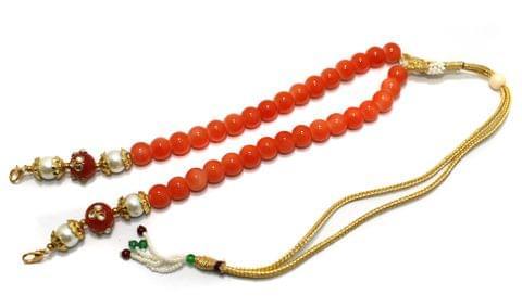1 Pc Beaded Necklace Dori Orange