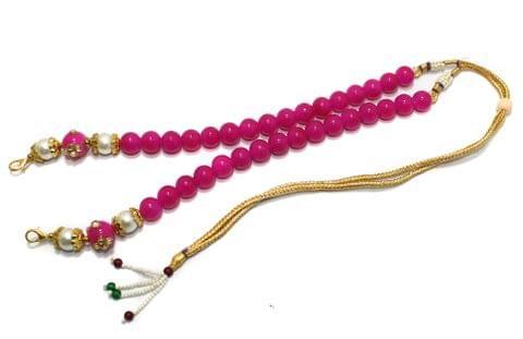 1 Pc Beaded Necklace Dori Magenta