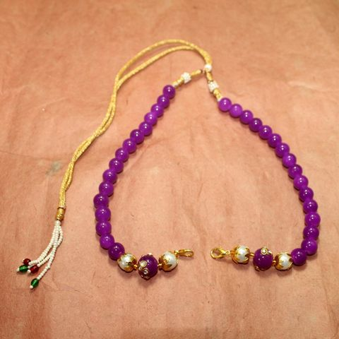 1 Pc Beaded Necklace Dori Purple