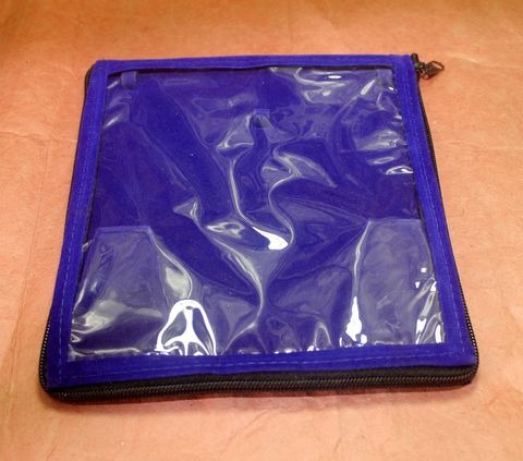 Royal Blue Jewellery Storage Folder 7x7 Inches, Pack of 25 pcs